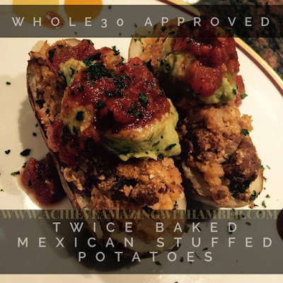 whole30, whole 30, whole 30 recipes, whole 30 cookbook recipes, whole 30 mexican stuffed baked potatoes, paelo, clean eating, support, 21 day fix