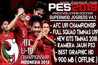 PES Jogress V4.1 2019 Mod AFC Asia Timnas Indonesia U19