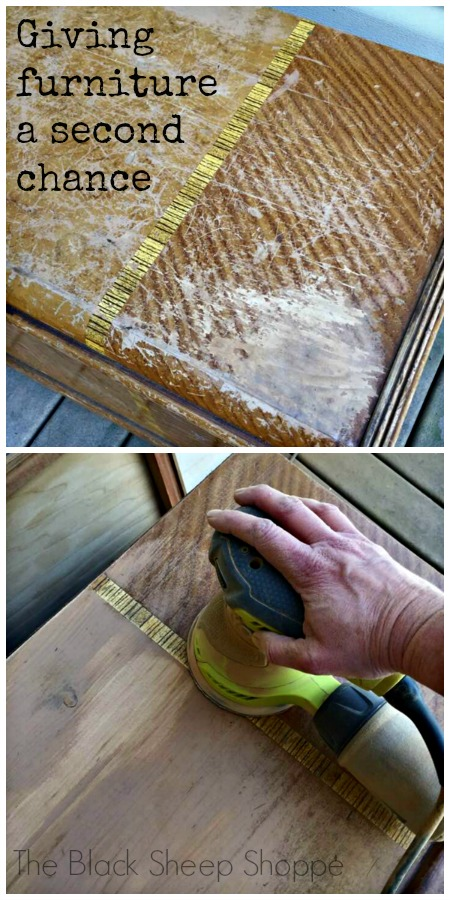 Giving worn out furniture a second chance.