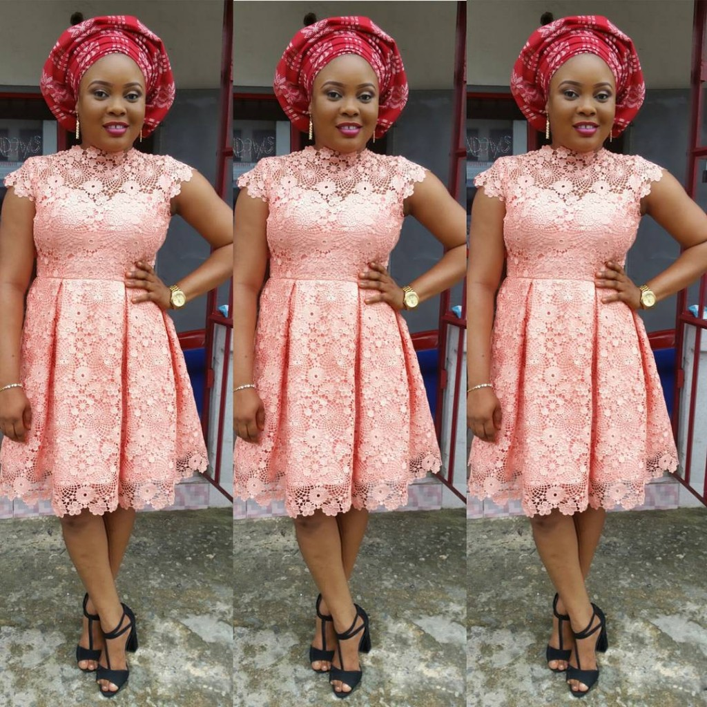 Celebrity Wedding Guest Outfits 2019: Breathtaking Asoebi Short Gown Styles 2018-2019