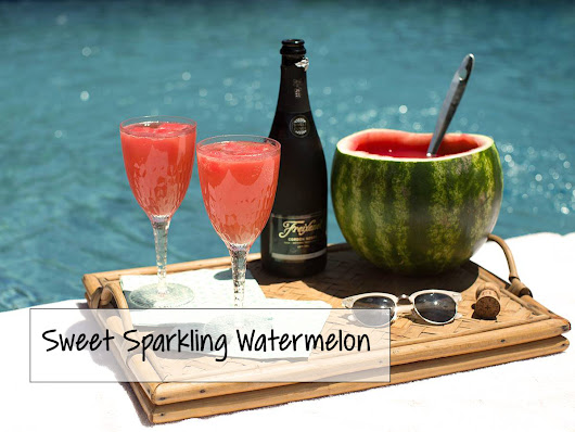 Great 4th of July Drink: Sweet Sparkling Watermelon