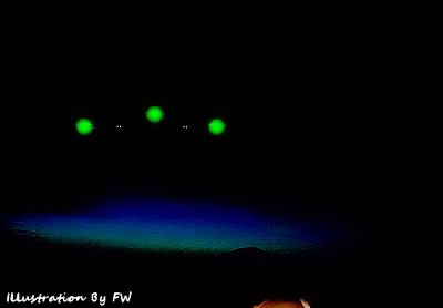Police Officers Report Triangular UFOs