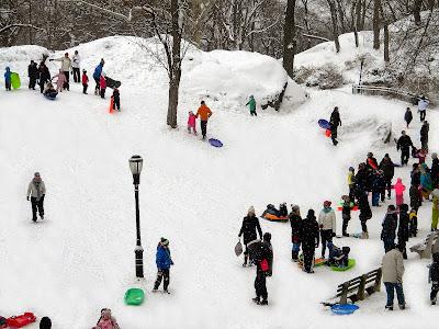 Winter snow storm New York City