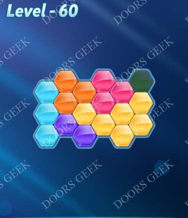 Block! Hexa Puzzle [6 Mania] Level 60 Solution, Cheats, Walkthrough for android, iphone, ipad, ipod