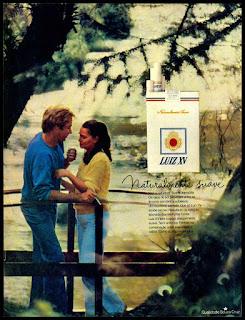 anúncio cigarros década de 70; oswaldo hernandez;