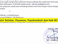 Rekrut 9 Orang Bappeda Prov Sumbar - Gaji 2.860.000 Pessel, Pasaman, Payakumbuh dan Kab 50 Kota