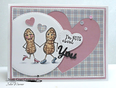 North Coast Creations Stamp Set: Stuck on You, Paper Collection: Our Daily Bread Designs Custom Dies: Double Stitched Rectangles, Pierced Rectangles, Ornate Hearts, Mini Stitched Hearts, Double Stitched Circles, Shabby Pastels
