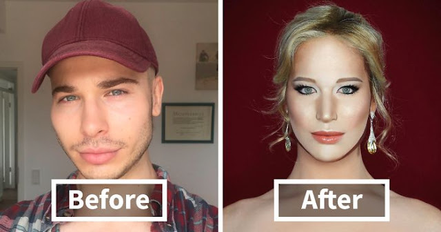 With Makeup, This British Drag Queen Can Transform Into Just About Anyone