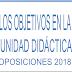 OBJETIVOS UNIDAD DIDÁCTICA OPOSICIONES SECUNDARIA