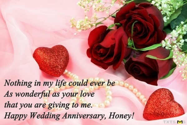 Happy wedding anniversary messages wishes for couple with image
