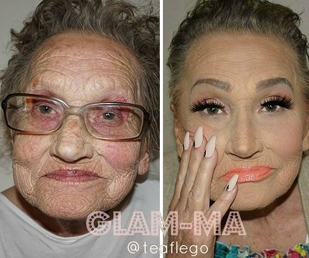 """She wanted something fresh"" - 80-Year-Old Grandma Asks Her Granddaughter For A Makeup, Becomes Internet Sensation"