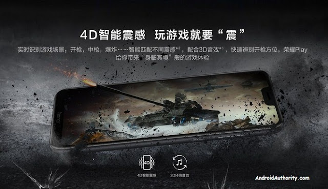Ikut Meramaikan Ponsel Gaming, Honor Play Menjanjikan teknologi 4D Haptic