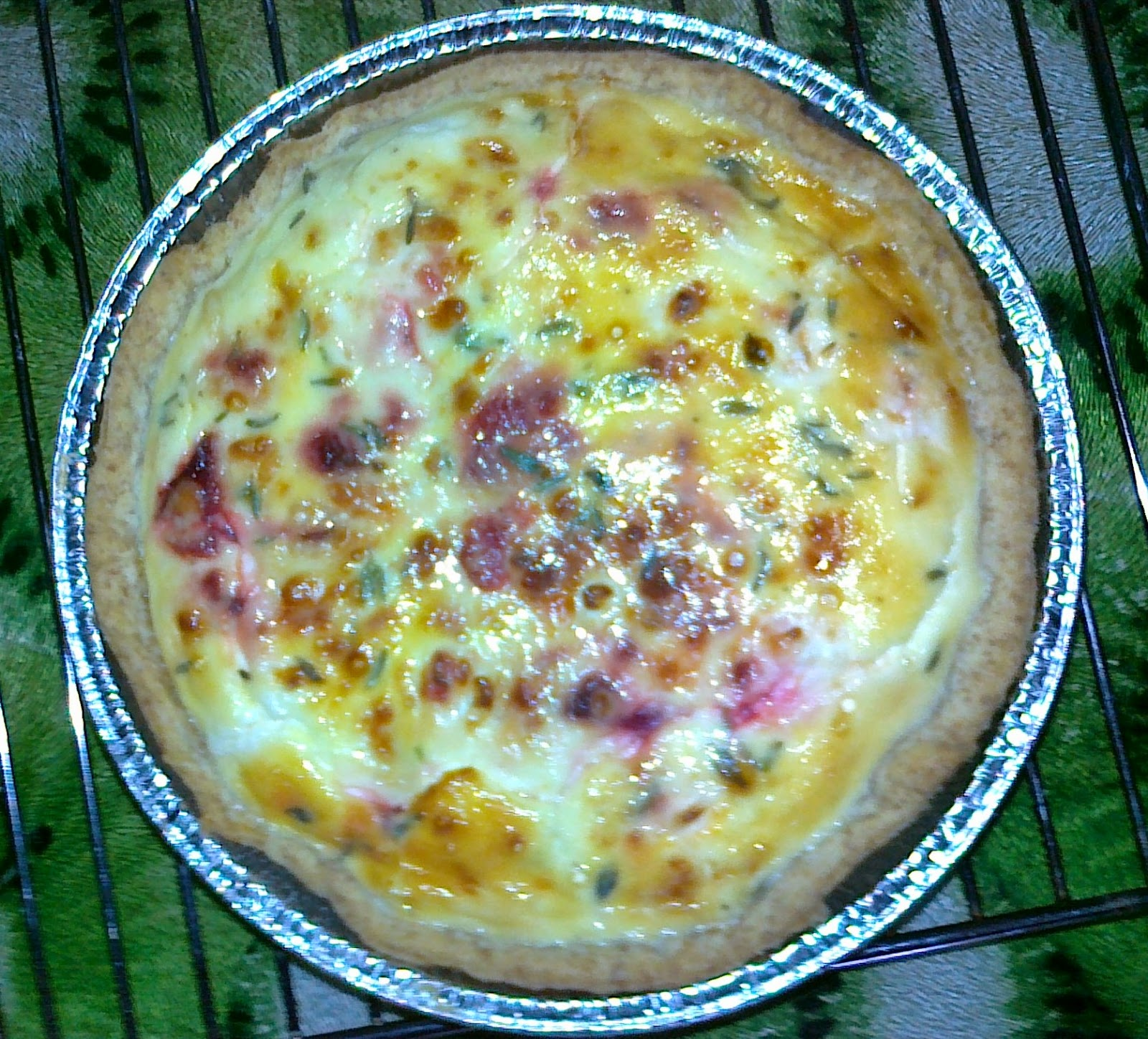 Beetroot, Tomato & Feta Cheese Flan