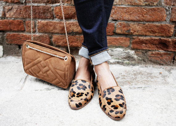 loafers animal print leopard