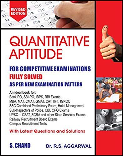 Quantitative Aptitude For Competitive Examinations @ 437/-, quantitative aptitude book, apti book, aptitutude book, quantitative book rs agarwal full details, rs agarwal quantitative aptitude book
