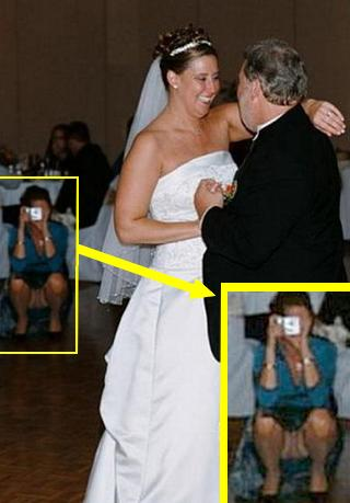 Accidental nudity wedding