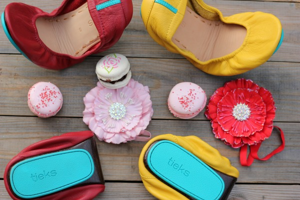 Tieks Ballet Flats Yellow and Red