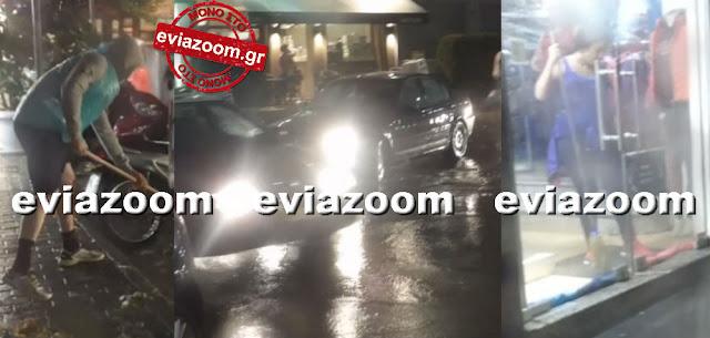 Ισχυρή καταιγίδα έπληξε την Χαλκίδα - Πολίτης με τσουγκράνα ξεβουλώνε τα φρεάτια (ΦΩΤΟ & ΒΙΝΤΕΟ)