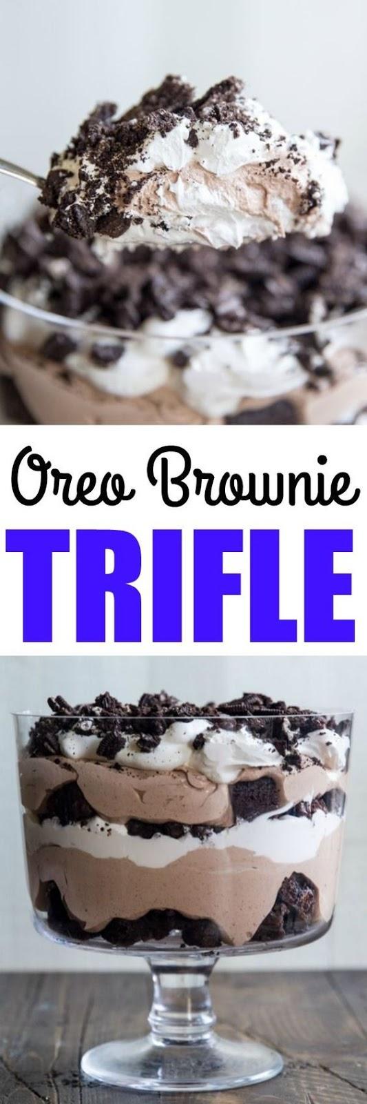 Sweet Oreo Brownie Trifle