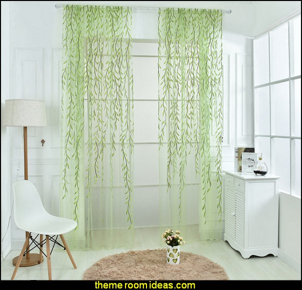 Willow Voile Tulle Room Window Curtain Sheer Voile Panel Drapes Curtain