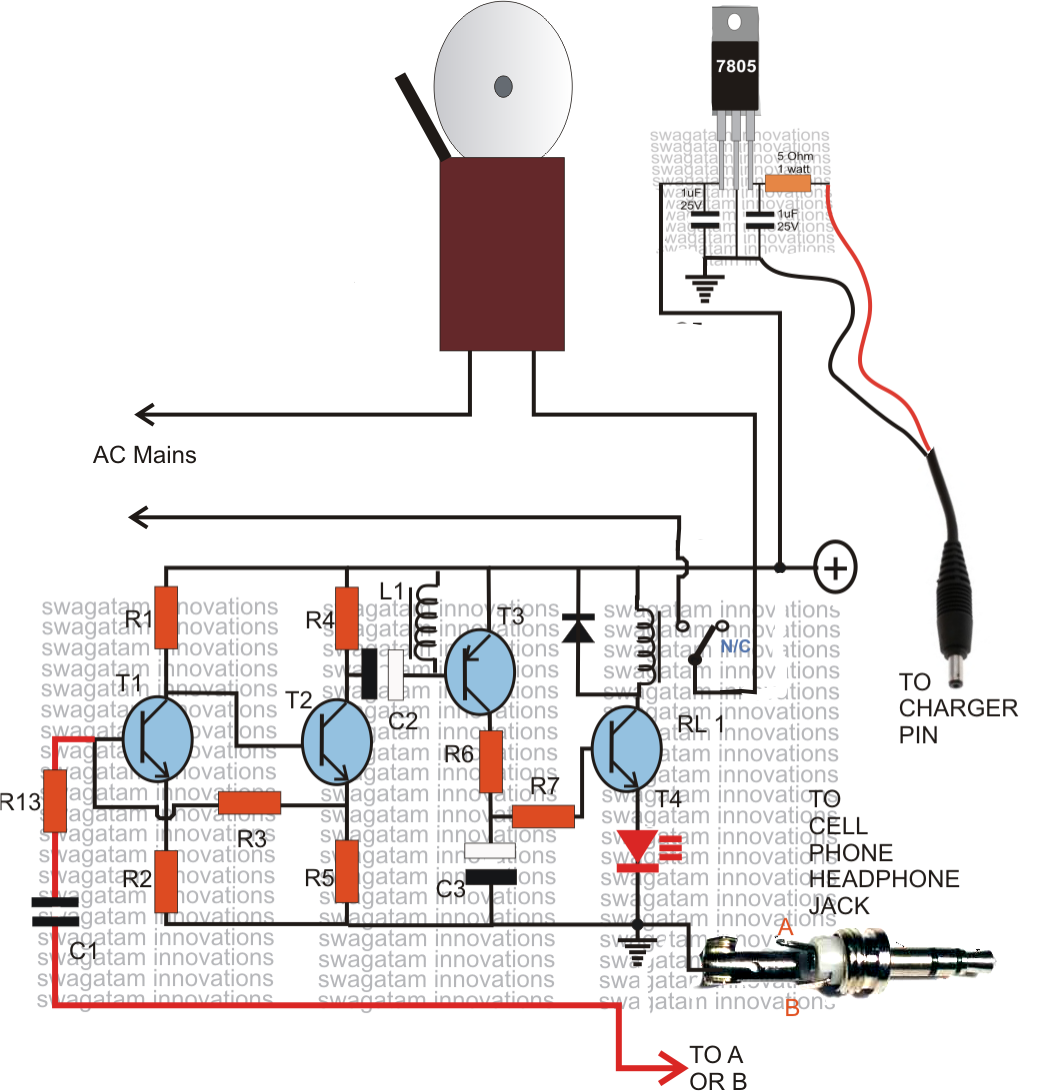 a cell phone controlled remote bell circuit