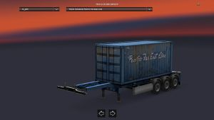 Container Pacific Far East Line Trailer