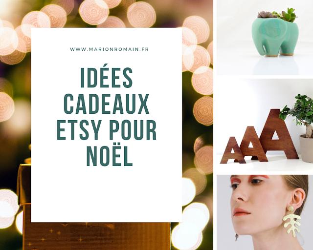 idées cadeaux de Noël Etsy - Marion Romain