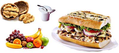 Snacks saludables nutrición bajar peso salud