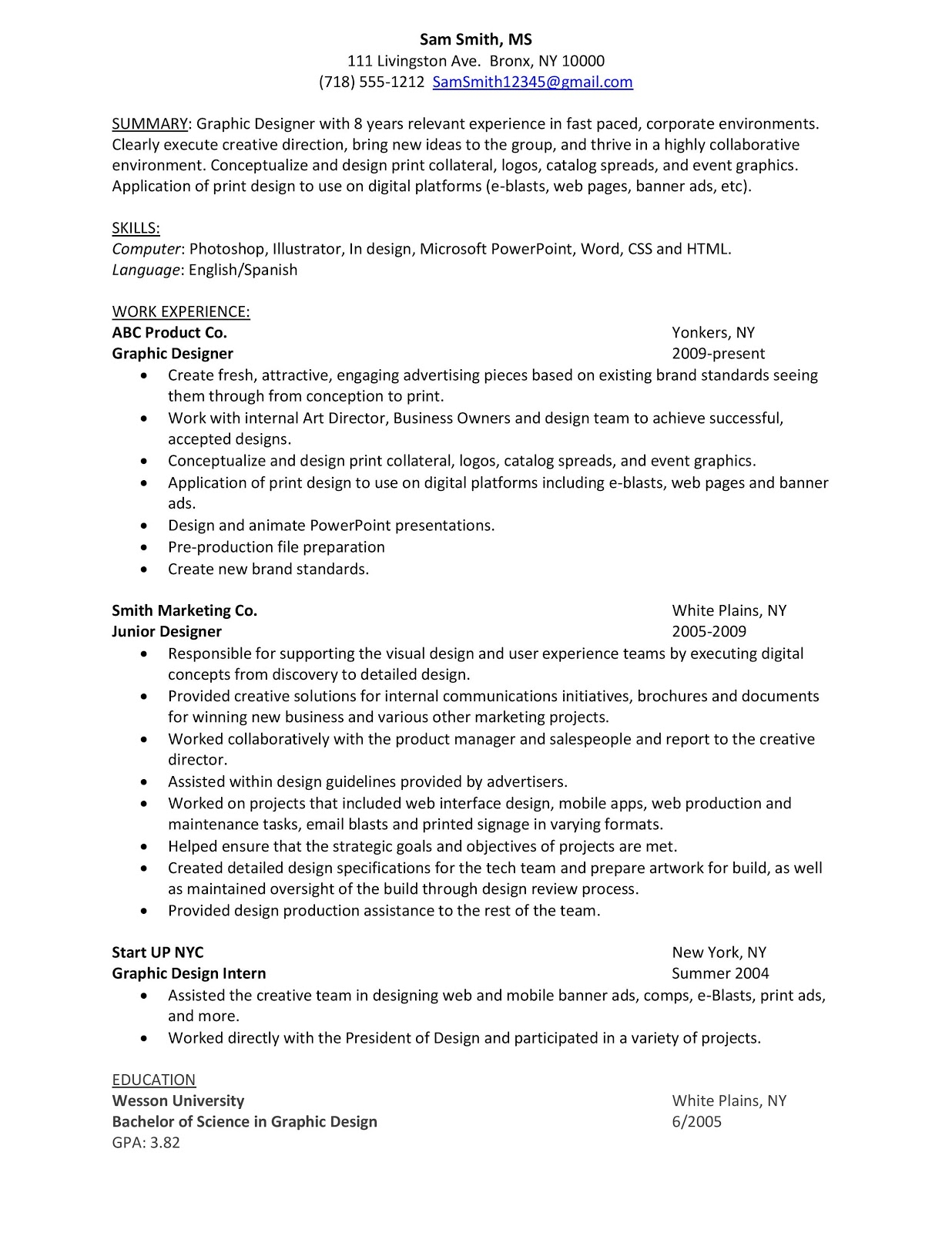 Wrestling Resume Sample Resume Graphic Designer Career Advice Pro Wrestling