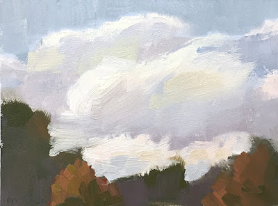 mini painting color study clouds at the park May 20 2019