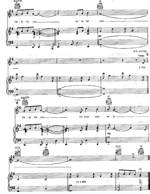 Partitura Piano Banda Sonora