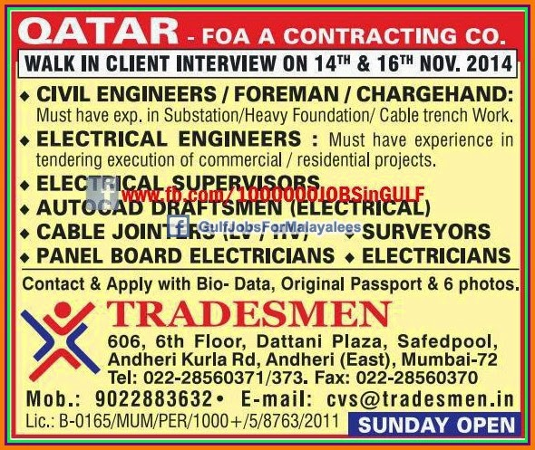 Contracting Company Qatar Jobs