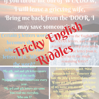 Tricky Riddles using the English language with answers