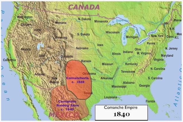 Mapa - Comanches