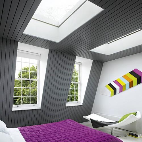 Décoration petite chambre mansardée - idées déco moderne