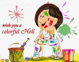 Holi Cartoon