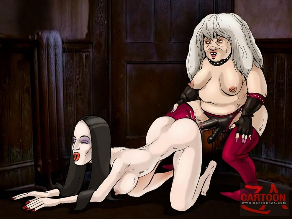 les Addams famille Cartoon porno