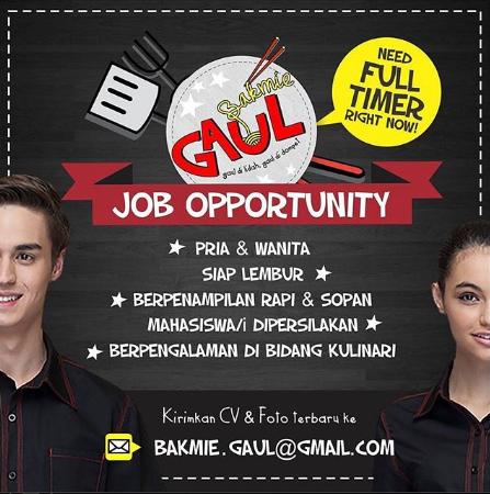 Lowongan Kerja Bakmie Gaul Bandung