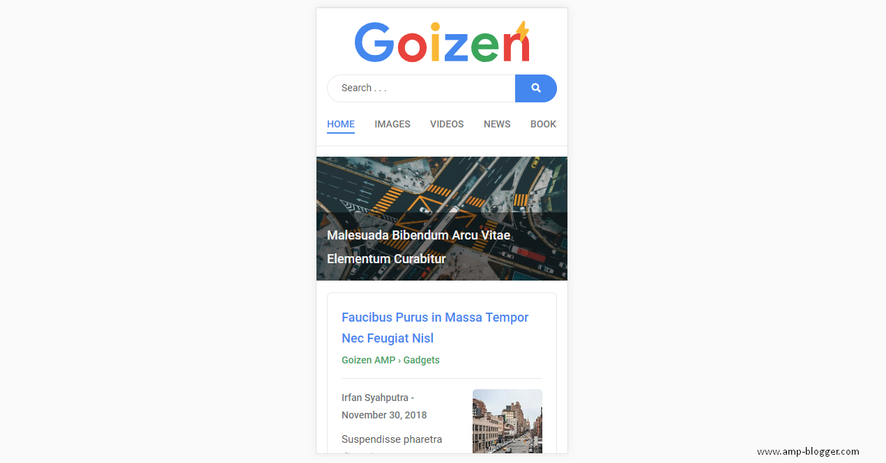 Goizen Blogger Template, Template Simpel Untuk Optimasi Mobile User