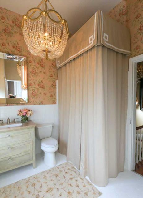 A small bathroom in a classic style design