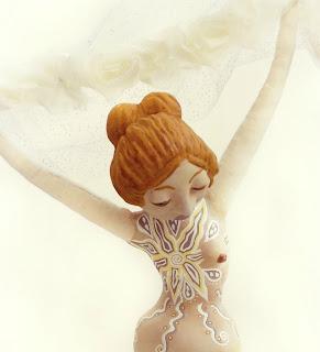 Breast Cancer Survivor Mastectomy Tattoo Figurative Sculpture Art Doll