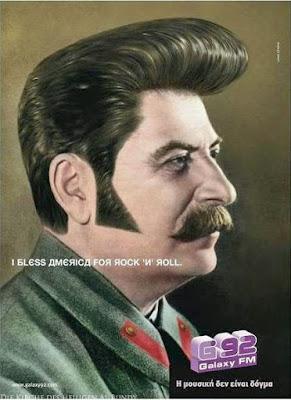 Diktator mit Rockabilly Frisur - Stalinismus Rockt lustig