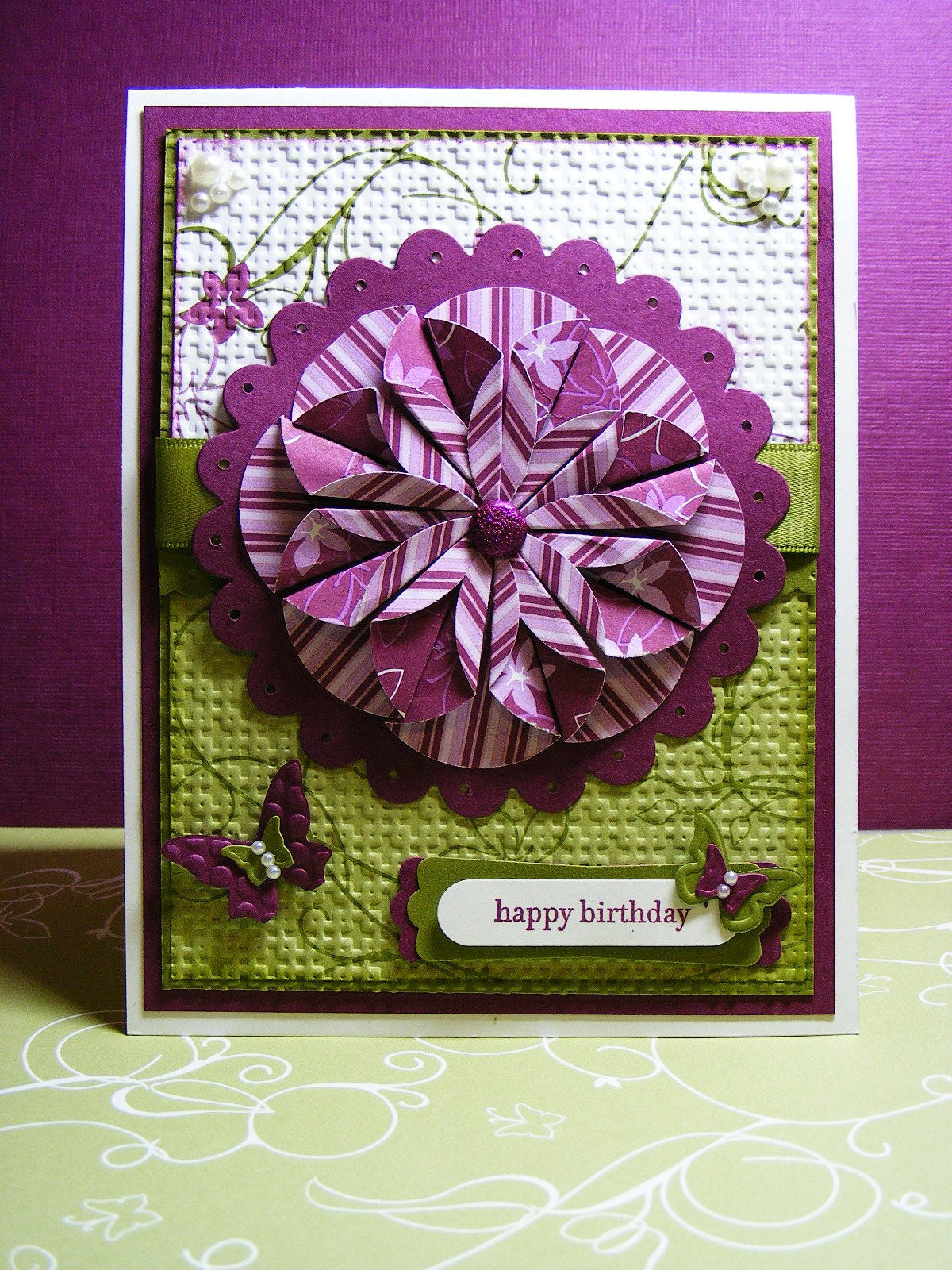 Beautiful Birthday Card Made For Me By My Stampin Buddy Christine Kokiw