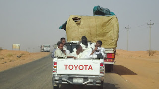 Driven to Khartoum on a pickup truck