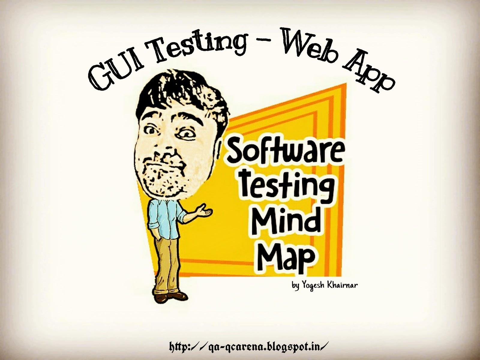 QA-QC Arena: Software Testing Mind Maps – GUI Testing-Web Applications