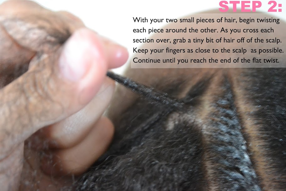 Little Girls Natural Hairstyle: Flexi-rod Set & Flat