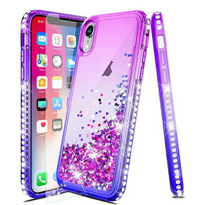 For Iphone XS Case Luxury Glitter Liquid Quicksand Sparkle