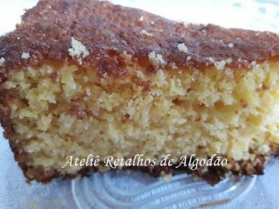 Delicioso e fácil bolo de milho verde com fubá e coco