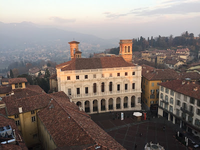 "View from the Campanone Biblioteca Civica ""Angelo Mai""."
