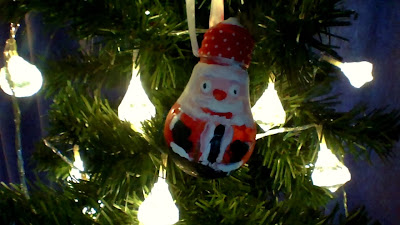 , Making Lightbulb Christmas Baubles:  Santa